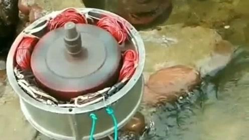高手在民间,牛人发明的水力发电机,用起来非常不错!