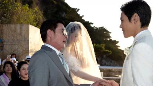 向佐郭碧婷婚礼现场照曝光众星送祝福 可是谁注意到郭爸表情?