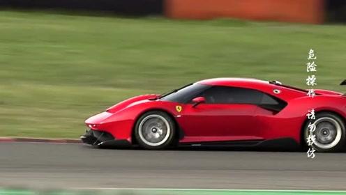 法拉利P80C在专业赛道上加速(二),涡轮增压器啁啾声,好听