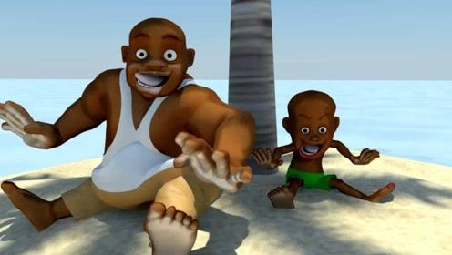 为了摘椰子,父子两想出各种办法,坚持不懈终是得到了回报!