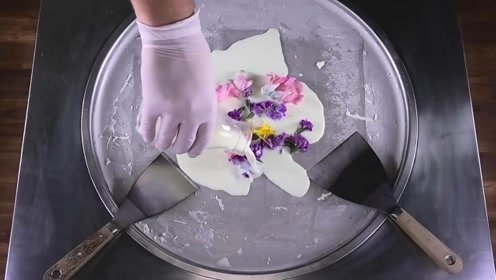 黑暗料理,鲜花也能做炒酸奶,这味道吃货们想尝尝