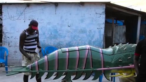 非洲最奇葩的棺材,造型卡通喜感,花样可真多!
