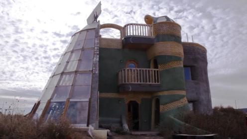 老外用垃圾建造房屋,每平方造价1.7万元,全球网友为其点赞!
