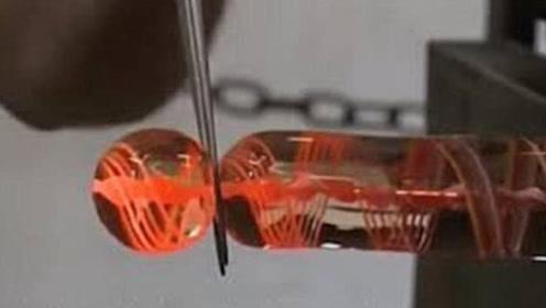 """儿时的玩具""""玻璃弹珠"""",到底是怎么制作出来的?看完大开眼界!"""