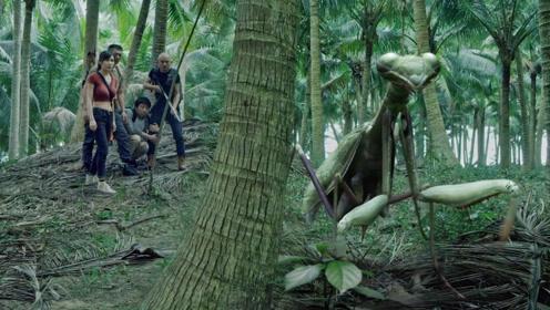 巨型螳螂惊现无人岛,疯狂追捕落难人类!