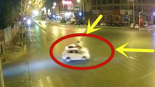 这真的巧合!两车路口突然鬼探头,谁也没想到竟然这么巧!