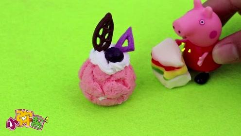 国庆假期佩奇居然在网上开了一家网红甜品店 小仙女们都爱吃
