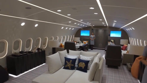 迪拜土豪花式炫富,21亿美元买下私人飞机,空姐跪着服务