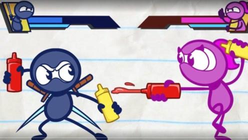 忍者小蓝摆擂台挑战群雄,击败了各国精英,结果却败给了中国功夫