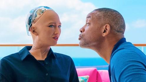 亲一口美女机器人,她会有什么反应?太伤自尊了!