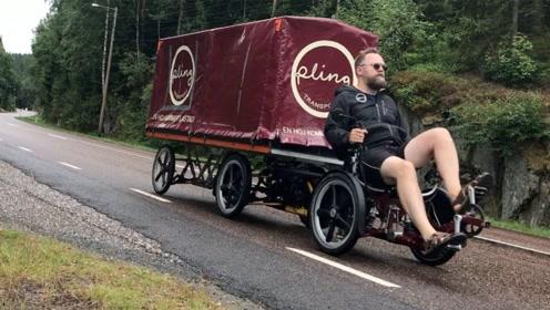 专门拉货的6轮自行车!载重200公斤,电动助力时速25公里!