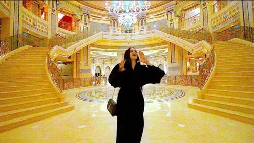迪拜酋长的私人豪宅,进去一看,才知道什么叫富丽堂皇
