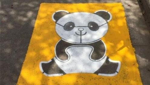 """停车位里""""躺个熊猫""""是啥意思?交警:这都不明白,罚款200元扣三分"""