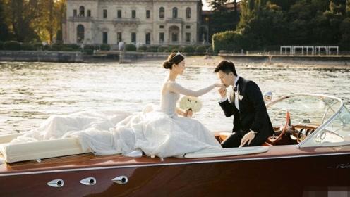 文咏珊与男友意大利举行古堡婚礼 泊船入场超浪漫