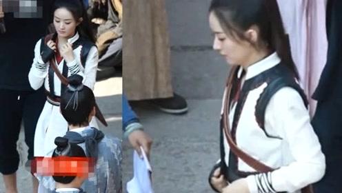 赵丽颖新剧路透曝光 网友:为啥与王一博现场无交流