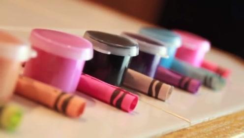 贫穷窟女孩买不起大牌口红,自己用蜡笔做一个总行了吧!