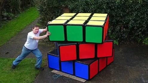 50岁大叔打造最大和最小魔方,看到成品时,我绝望了