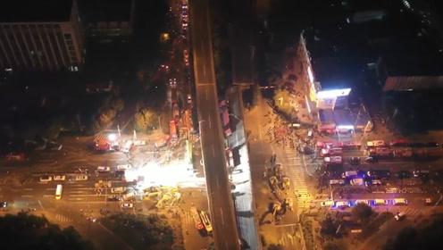 无锡高架桥倒塌已致3人死亡 多角度视频记录惊魂一刻