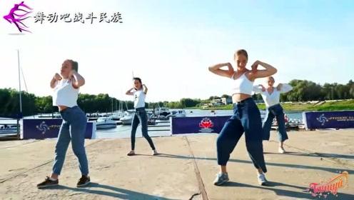 """俄罗斯中学女生都爱跳的""""甩手舞"""",真有型"""