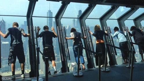 世界上最危险的玻璃窗,能让人在300米高向下倾斜,胆小的人别去