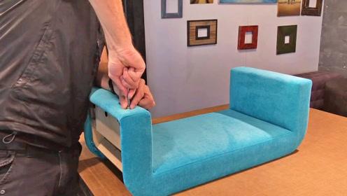 一般秋千坐着不舒服,大哥凭手艺DIY沙发小秋千,成品精良又舒适