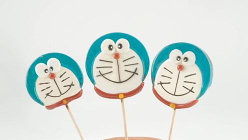 学校门口孩子最爱的叮当猫棒棒糖,原来做法这么简单,快来瞅瞅吧