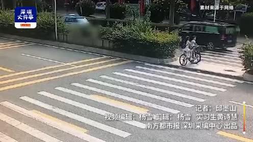监控记录深圳一学生斑马线上被撞一幕!事发时正结束补习回家