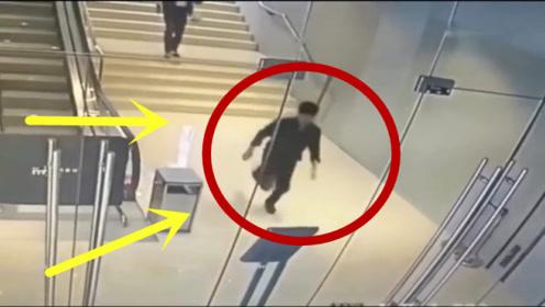 小伙下班着急回家,一路飞奔下楼梯,下一秒我不厚道的笑了!