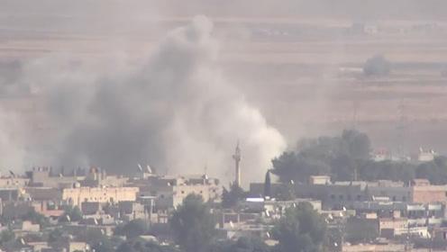 土耳其军事行动持续进行 叙利亚边境城市浓烟四起