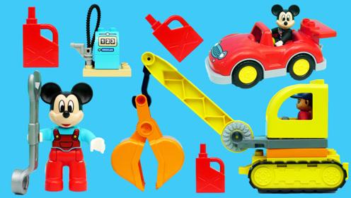 米奇妙妙屋的维修铺场景积木玩具