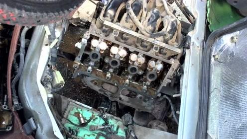 五菱神车,8万公里后氧传感器无积碳