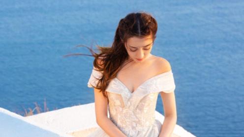 迪丽热巴绝美婚纱造型曝光 身材凹凸有致