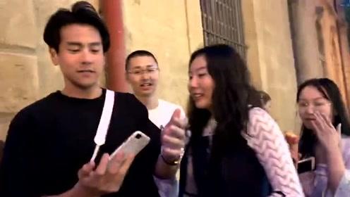 法国街头偶遇彭于晏,被一群小姐姐包围不得不合影了