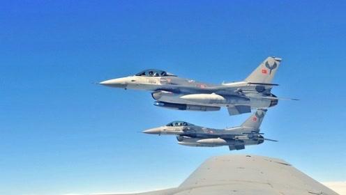 """土耳其F16战机欲轰炸叙""""民主军""""总部 俄苏35紧急拦截"""