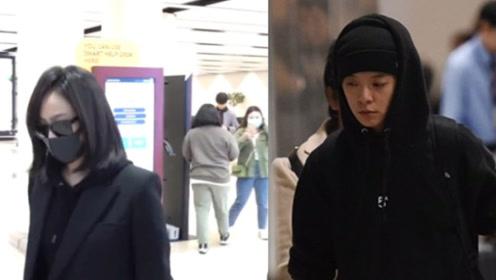 宋茜Amber抵达韩国吊唁雪莉 二人一身黑衣神色悲伤