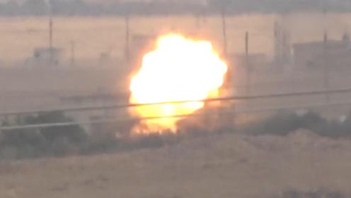 腾起巨大黑烟!库尔德武装发布疑似击毁土耳其豹2A4坦克视频