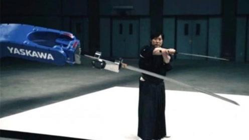 这机械臂会舞剑,誓要与日本剑客比高下,你猜猜谁能胜?