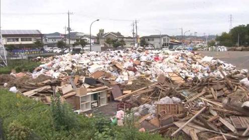日本台风留数百万吨垃圾,处理时间至少两年
