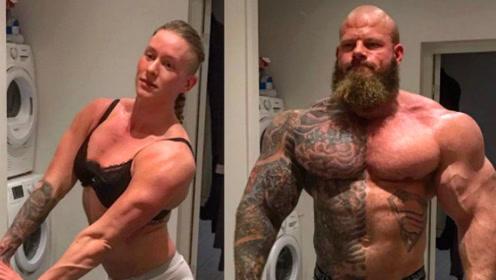 真正的肌肉半兽人!拥有超大维度,他的妻子都足以秒杀男人!