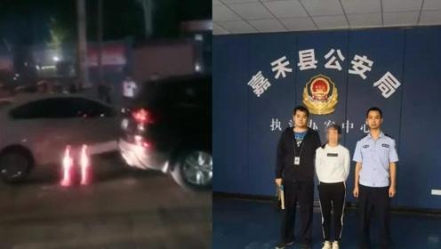 自首了!女司机猛踩油门冲卡撞坏警车 撞伤4名交警后逃窜被刑拘