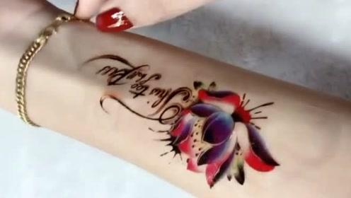 新做的纹身怎么用透明胶带一撕就掉了,怎么这么不结实啊!