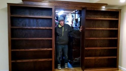 """小伙为了防盗,在家中设计各种""""隐形门"""",小偷来了一脸懵逼"""