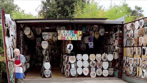 """美国96岁老人,收藏上千个马桶盖,被称为""""马桶之王""""!"""