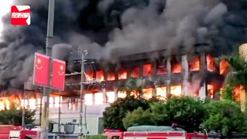 突发!东莞一工厂突发大火,火光熊熊贯穿两层楼,场面吓人