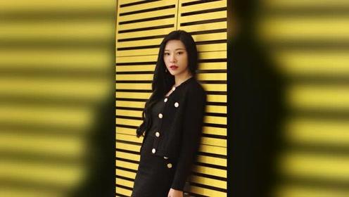 极品妹子一身黑色套裙,名媛范十足,美极了
