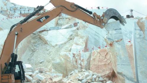 """一根""""线""""就能切割大理石?本来我是不信的,看一下施工现场懂了"""