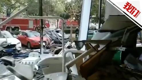 山东聊城一餐馆煤气罐起火爆炸 路人遭殃被炸倒