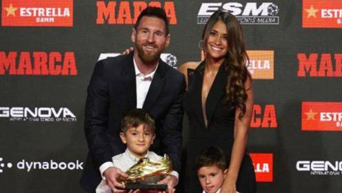 梅西夺6座欧洲金靴创纪录,给他颁奖的人是梅西挚爱!