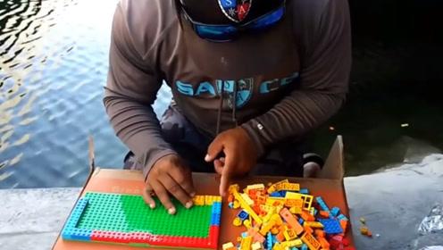 老外用乐高玩具做了个鱼缸,能装下鱼吗?一起来见识下