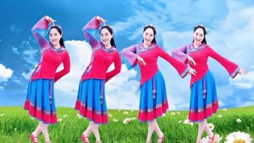 水灵儿妹妹广场舞《为爱疯狂》简单动作一看就会